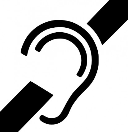 聴覚障害者のシンボルのクリップアート ベクター ... 聴覚障害者のシンボルのクリップアート ベ