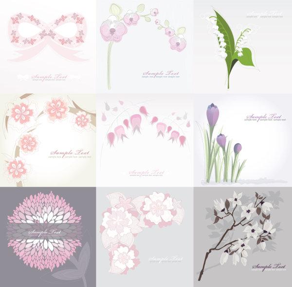 純粋な花の背景ベクトル材料 純粋なウール ベクター ロゴマーク - 無料ベクター | 無料素材イ
